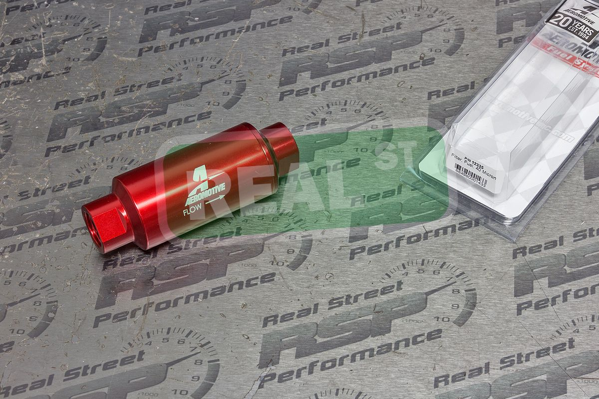 Aeromotive Fuel Filter An 10 40 Micron Stainless Steel Element Orb Red 12335