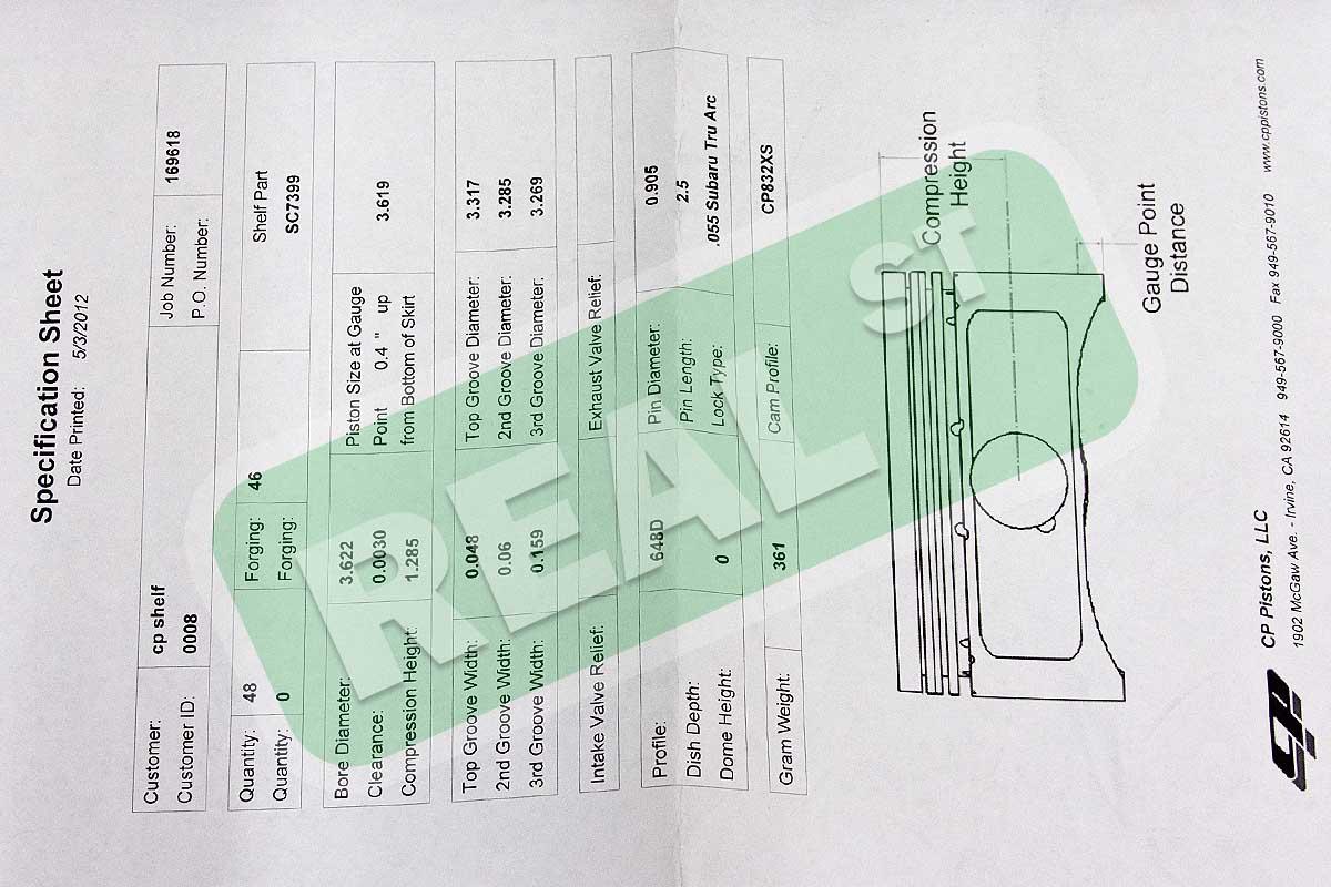Cp Forged Pistons Fits Subaru Ej20 Wrx 20l 92mm 851 Sc7399 Ebay Wrxi Piston Engine Diagram Description