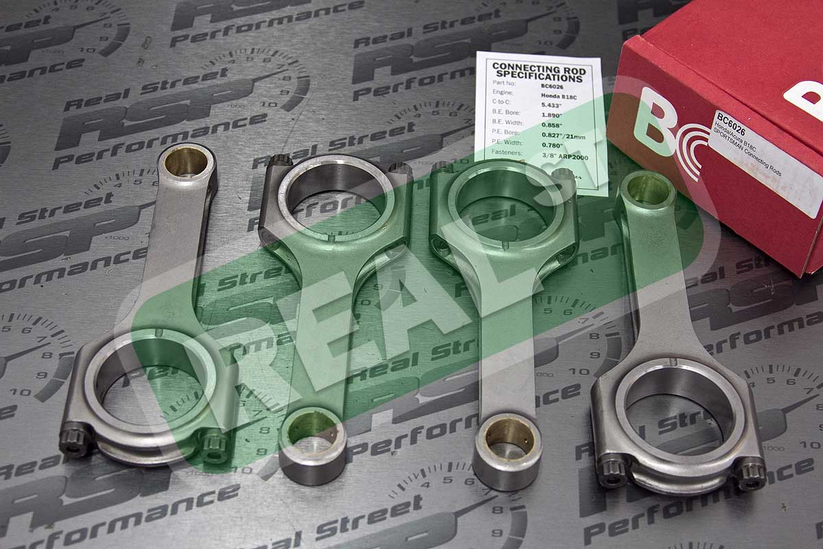 Acura B18C-5.433-Lightweight Sportsman with ARP2000 Fasteners Brian Crower BC6056 Connecting Rod