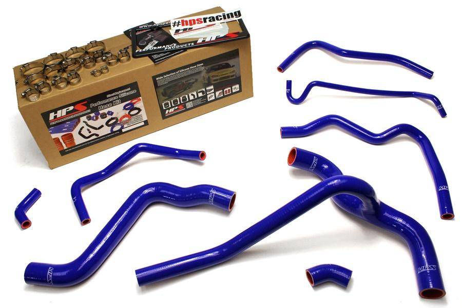 HPS 57-1416-BLUE Blue Silicone Radiator Coolant//Heater Hose Kit
