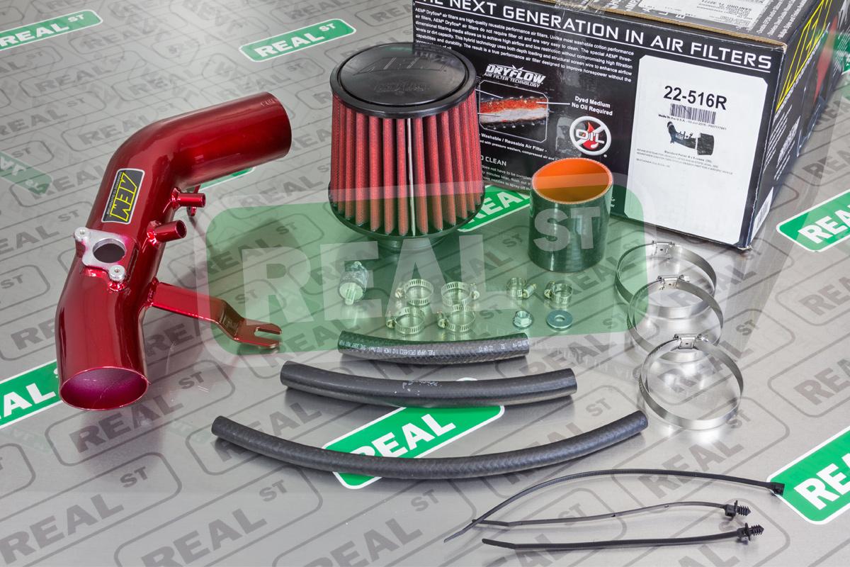 AEM Red Short Ram Air Intake for 1992-95 Honda Civic DX//LX//EX//SI Del Sol