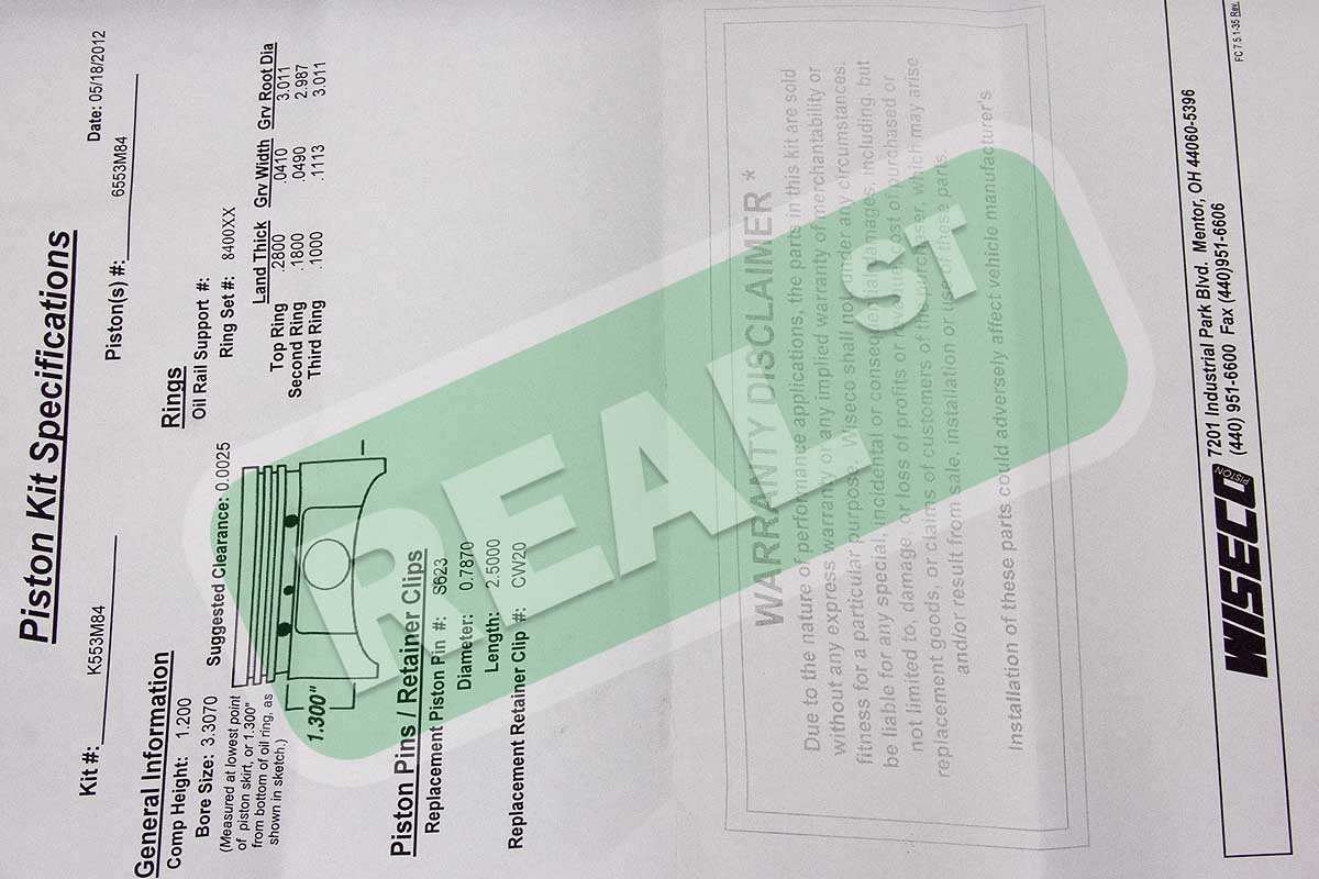 Wiseco Pistons Mazda Miata Protege Bp 18l 84mm 851 K553m84 Ebay Engine Plastic Skirt Diagram Description