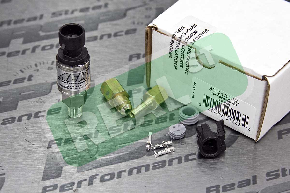 aem 3 5 bar map sensor stainless kit 1 8npt 4 30 2130 50. Black Bedroom Furniture Sets. Home Design Ideas