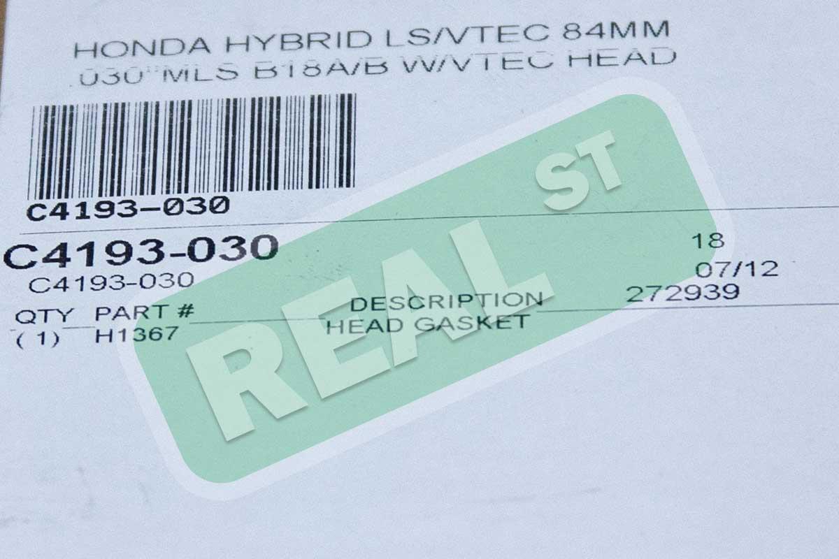 """COMETIC C4193-030 HONDA HYBRID LS//VTEC 84MM .030/""""MLS B18A//B W//VTEC HEAD"""