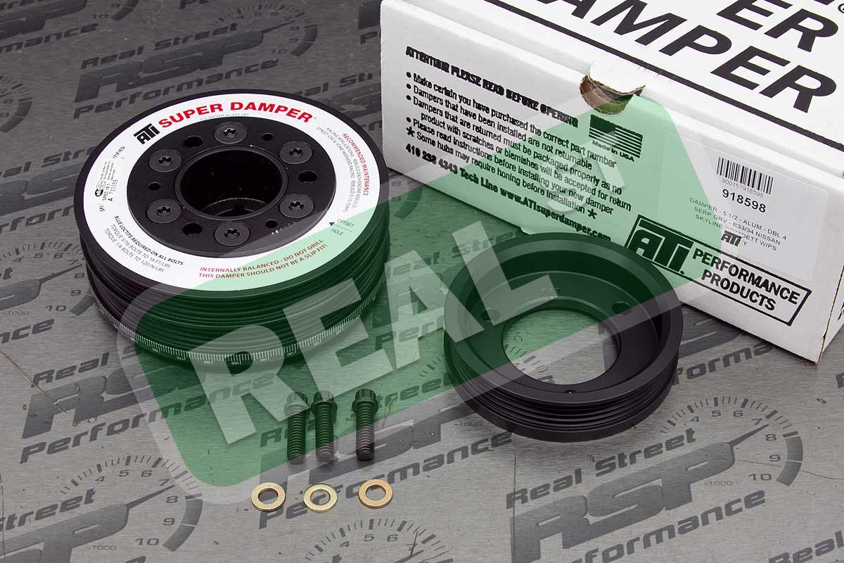 Details about ATI Street Super Damper Crank Pulley 500hp RB26DETT Skyline  R33 R34 918598