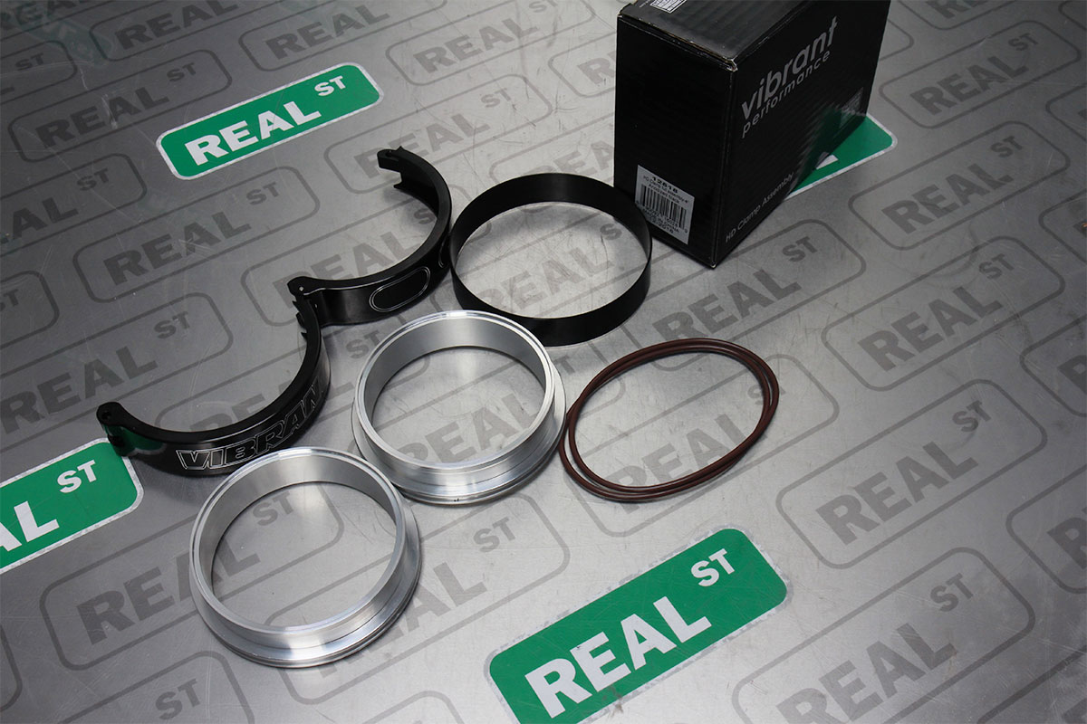 """Black Clamp Vibrant Performance 12516 HD Clamp Assembly for 3/"""" OD Tubing"""