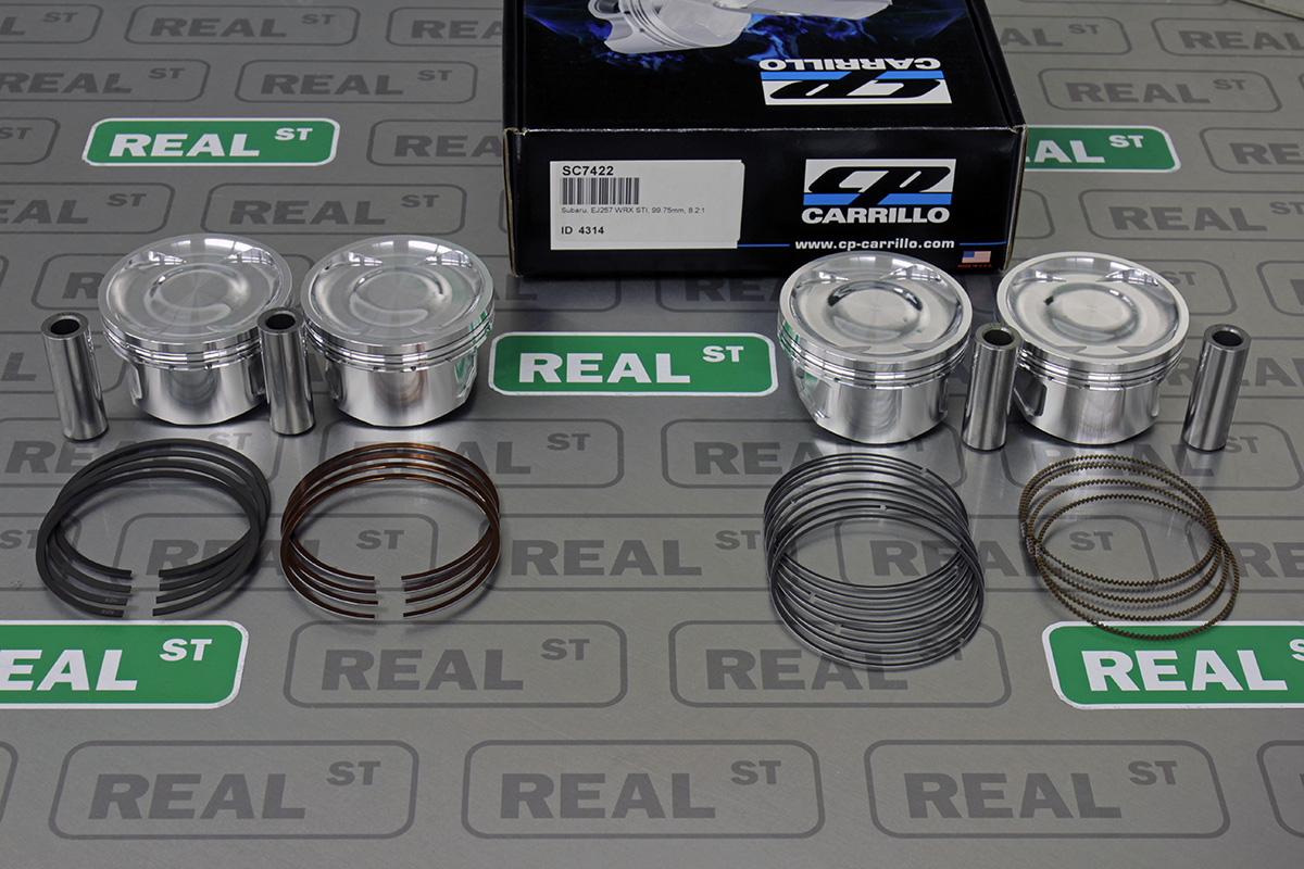 Cp forjado pistones se ajusta Subaru WRX EJ255 8 6: 1 EJ257 Sti 8 2