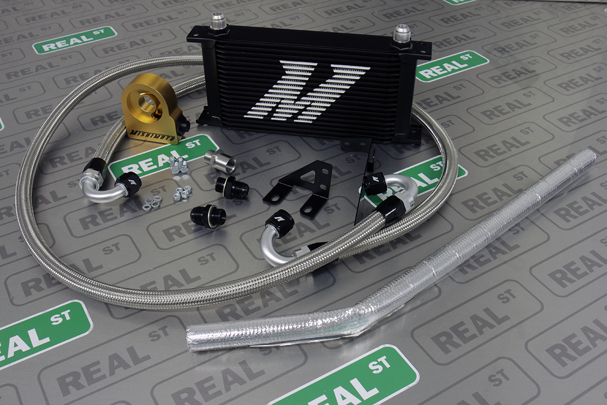 Details about Mishimoto Fits WRX STI 2015 EJ257 Thermo Oil Cooler Kit Black  MMOC-STI-15TBK