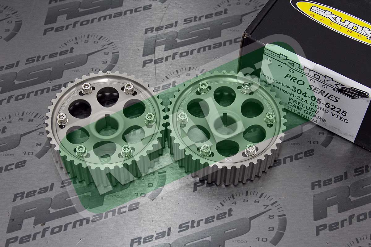 Skunk2 Pro Adjustable Cam Gears 2.2L H22 H22A1 H22A4 F20B DOHC Black 304-05-5220