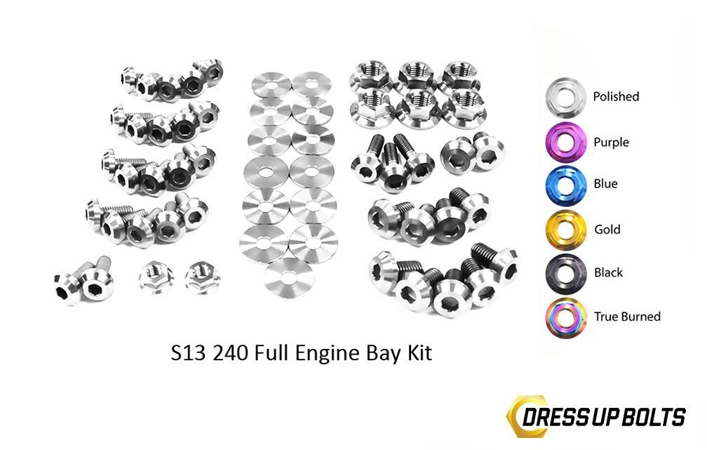 Dress Up Bolts for S13 Silvia 240SX 180SX 89-95 Ti Full