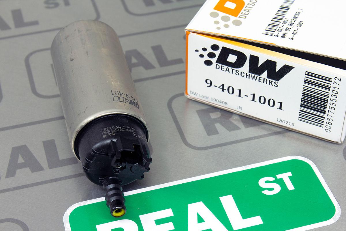 DeatschWerks 415LPH DW400 In-Tank Fuel Pump w// 9-1041 Install Kit 98-11 For P
