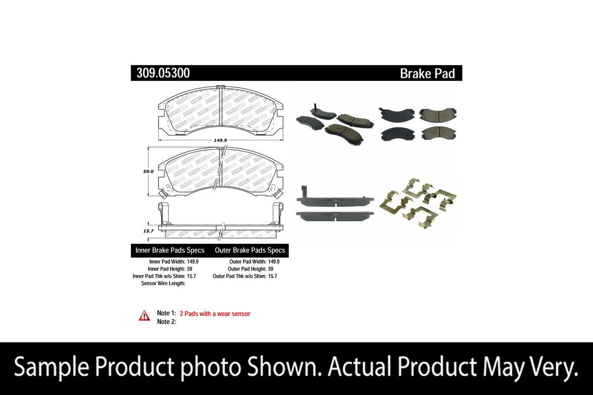 StopTech Sport Brake Pads Front for Talon TSI AWD 93-98