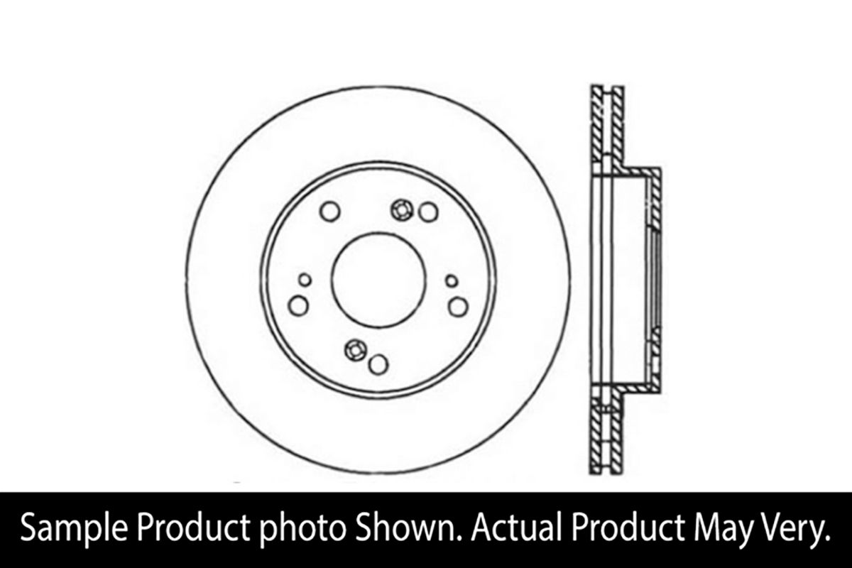 StopTech Sport Cross Drilled Brake Rotor Front Left Civic